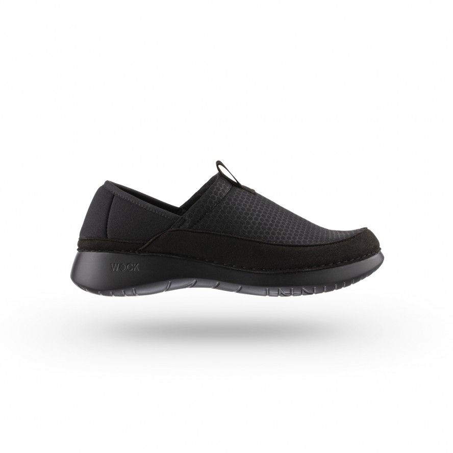 WOCK  Lightweight Black Work Sneakers - FEEL FLEX 04