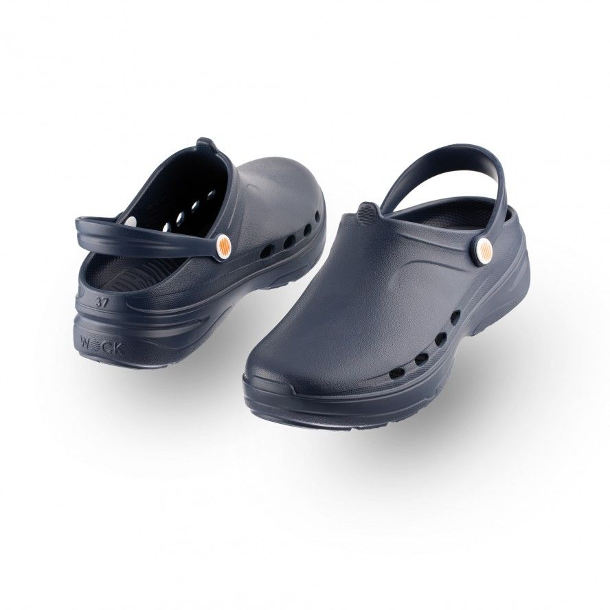 WOCK Navy Blue Lightweight Clogs WAYLITE 02 Men & Women