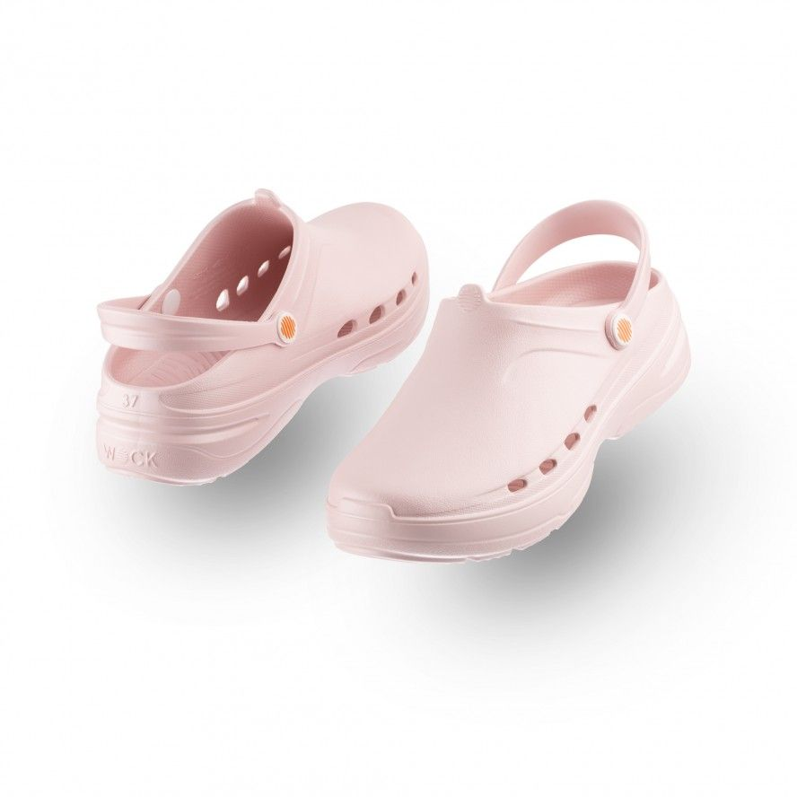 WOCK Baby Pink Lightweight Clogs WAYLITE 09 Men & Women