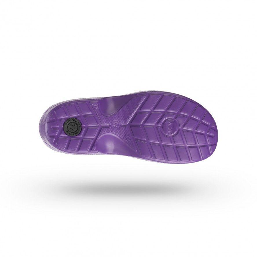 WOCK Zapato Sanitario Morado Muy Ligero Everlite 06